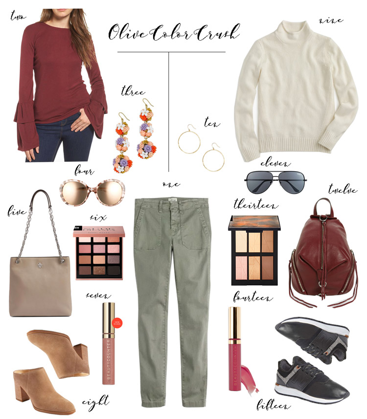 olive pants outfit inspiration