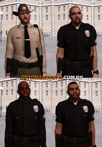 GTA SA - Pack de Policiais do GTA V