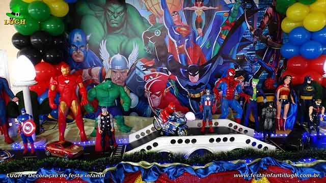 Decoração Super Heróis para aniversário infantil