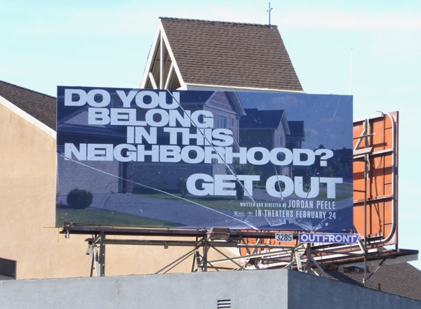Get Out movie billboard