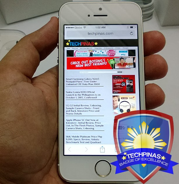 Apple iPhone 5S, TechPinas Badge of Excellence