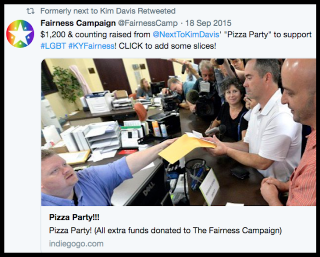 @nexttokimdavis pizza party and donation to Fairness Campaign Sept 18 2015