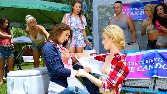 Layla London, Haley Reed, Mila Jade – Catfight on Campus