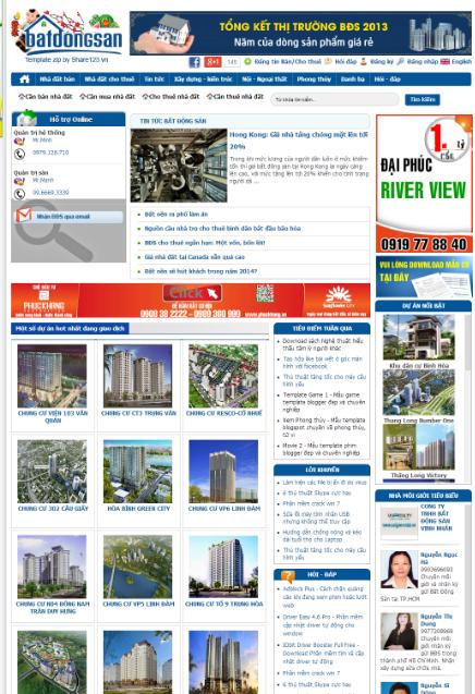 Bất động sản - Mẫu template blogspot về bất động sản đẹp và chuyên nghiệp