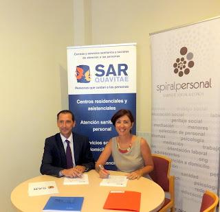 Convenio entre SARquavitae y Spiral Personal.Gabinete Social & Coach