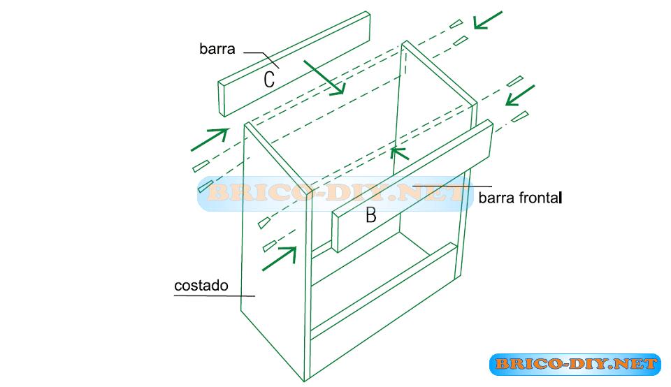 Mueble de cocina bajo para lavaplatos plano mueble de for Planos muebles de cocina para armar