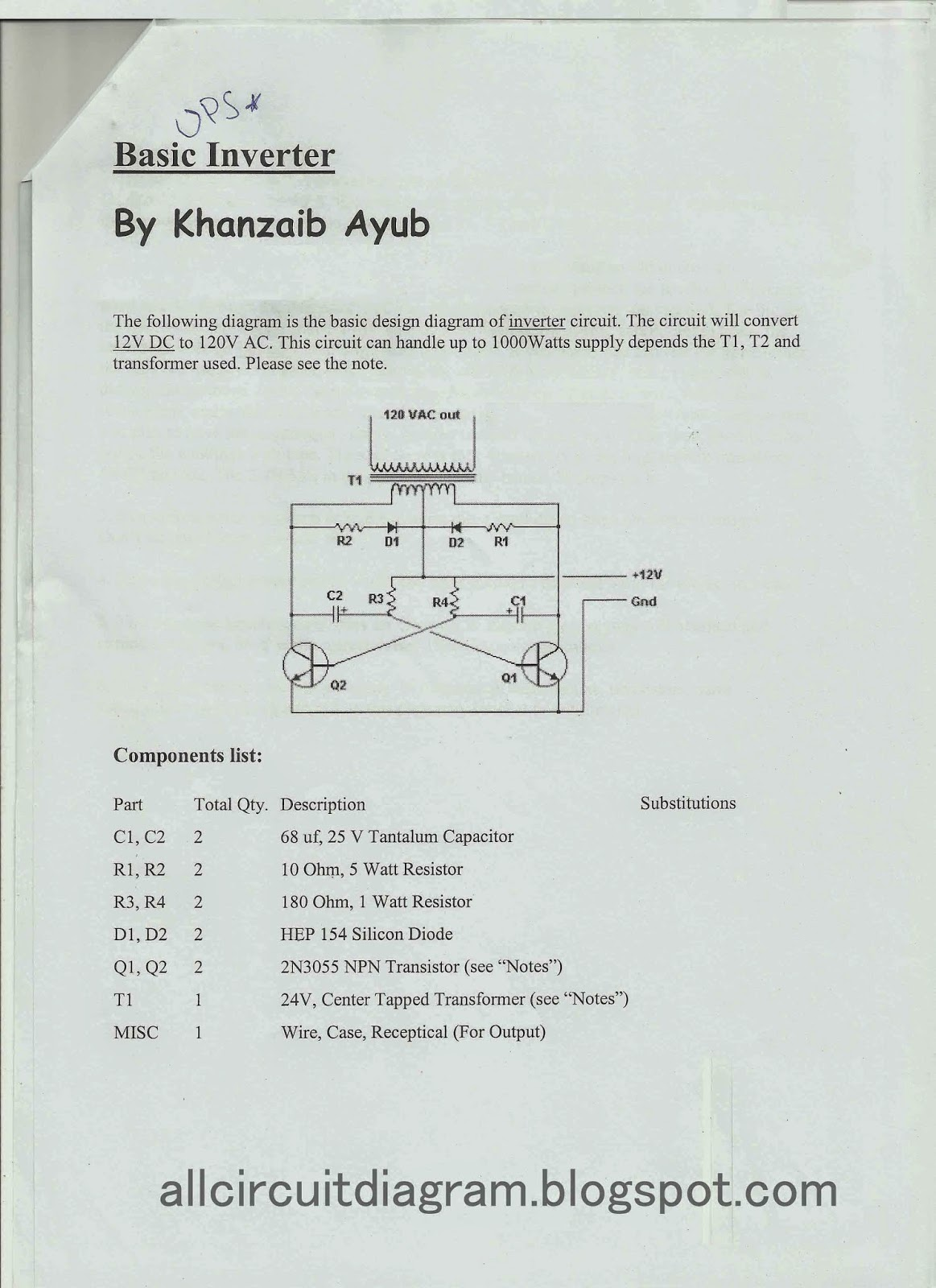 home ups inverter wiring diagram brass knuckles basic gallery of electronic circuit
