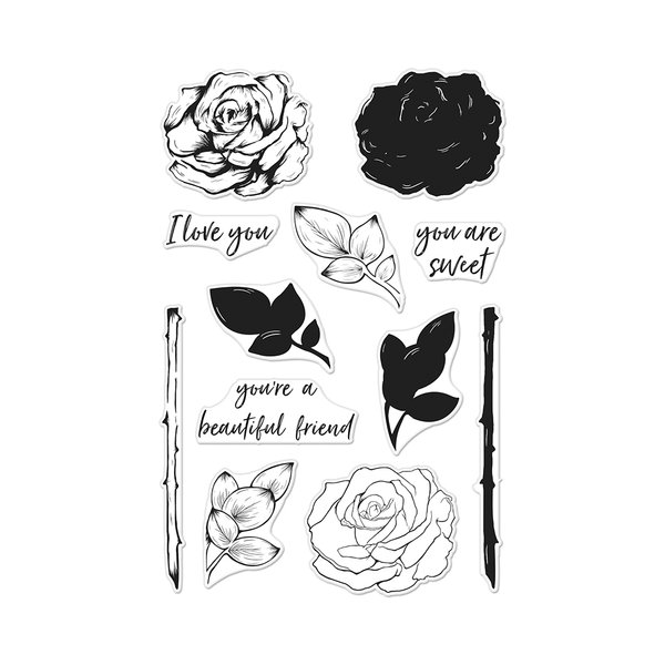 Color Layering Rose Stamp set by Hero Arts