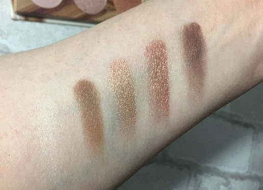 Flawless natural basics eyeshadow swatches