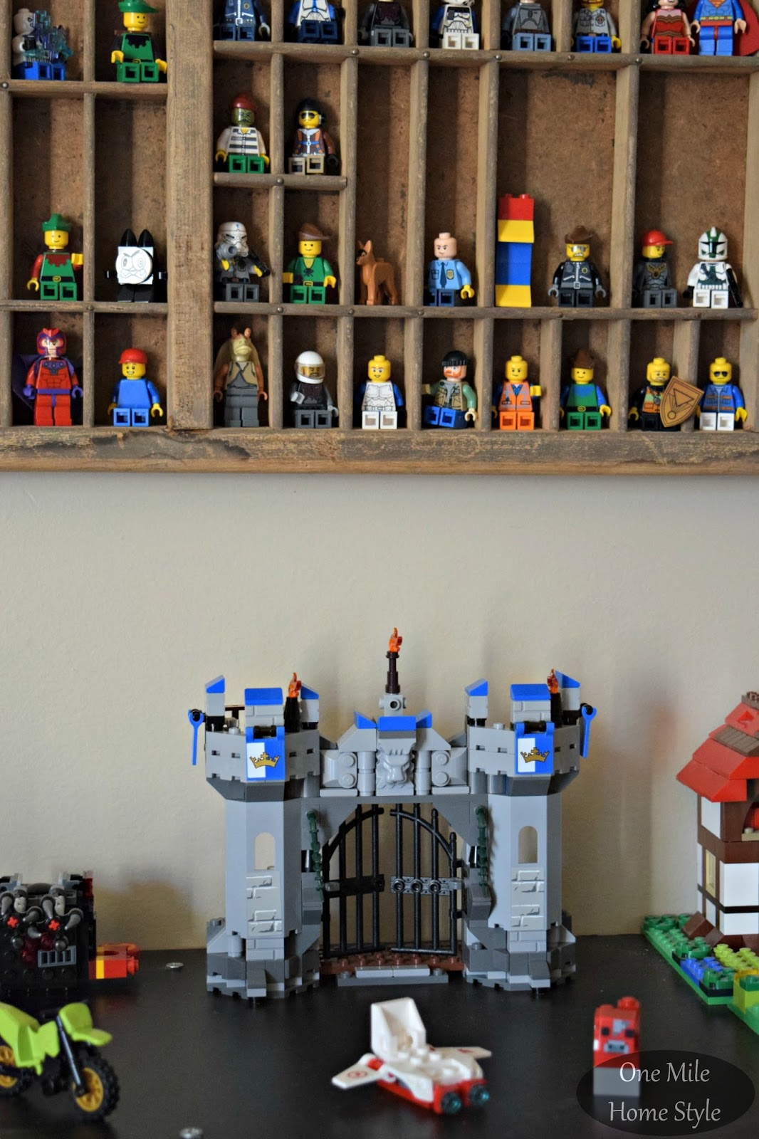 Simple and Decorative Lego Storage | One Mile Home Style & Simple (and Decorative) Lego Storage
