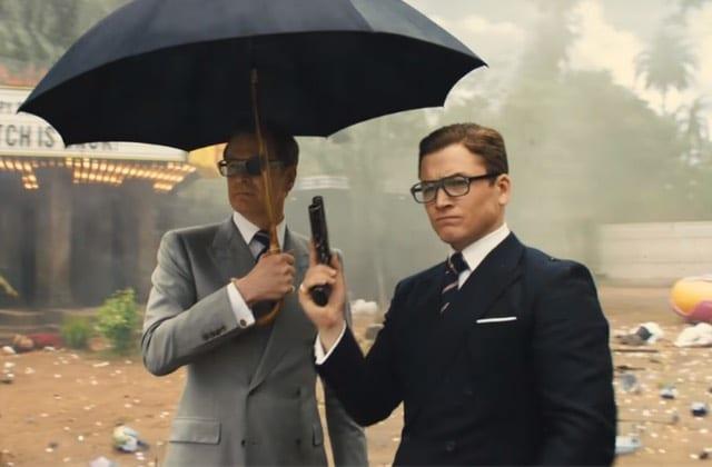 Colin Firth et Taron Egerton dans Kingsman : le cercle d'or, de Matthew Vaughn