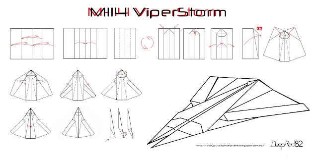 Infografía avión de papel M-114 ViperStorm