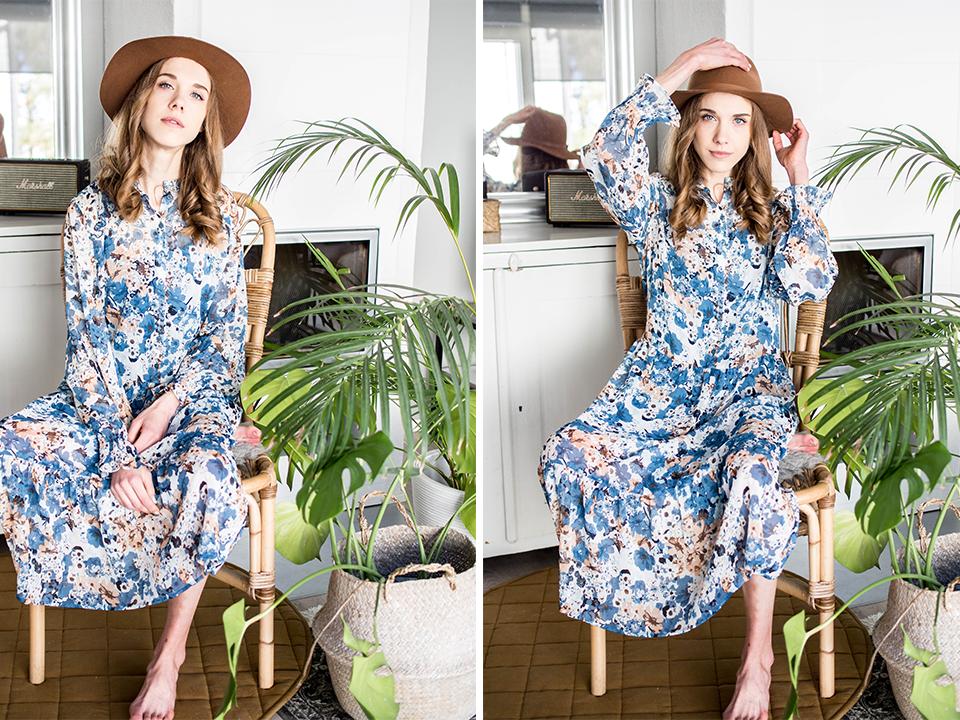 Fashion blogger, spring 2020, floral dresses - Muotibloggaaja, kevät 2020, kukkamekko
