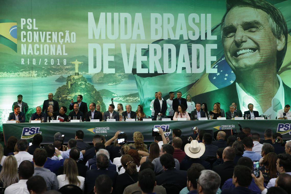 Convención del PSL en julio pasado en el que se lanzó la candidatura de Jair Bolsonaro / AGENCIA BRASIL