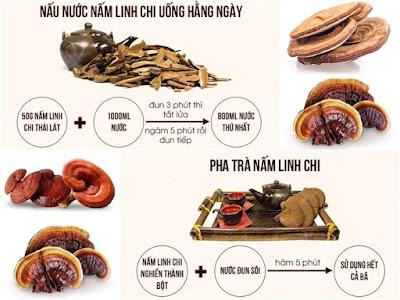 Cách nấu nấm linh chi hàng ngày sao cho đúng