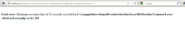 error pada saat instalasi drupal 8