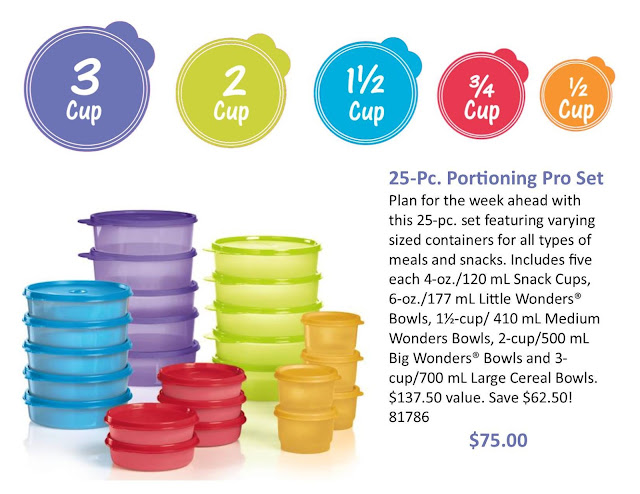 25 Pc Tupperware Portioning Pro Set