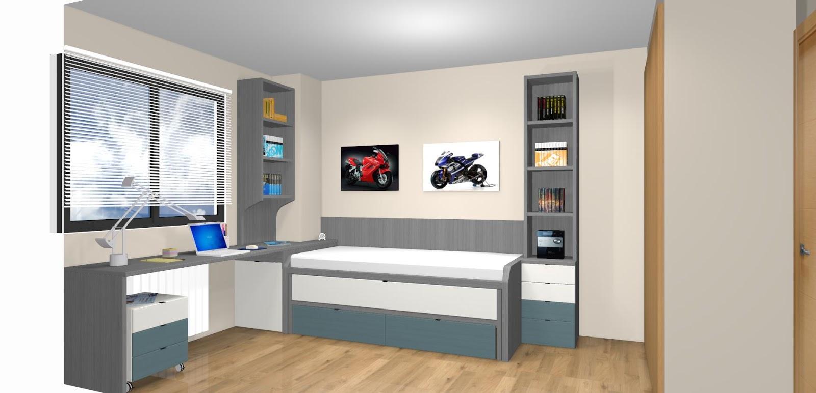 Dormitorios juveniles a medida con cama compacto for Habitaciones juveniles a medida