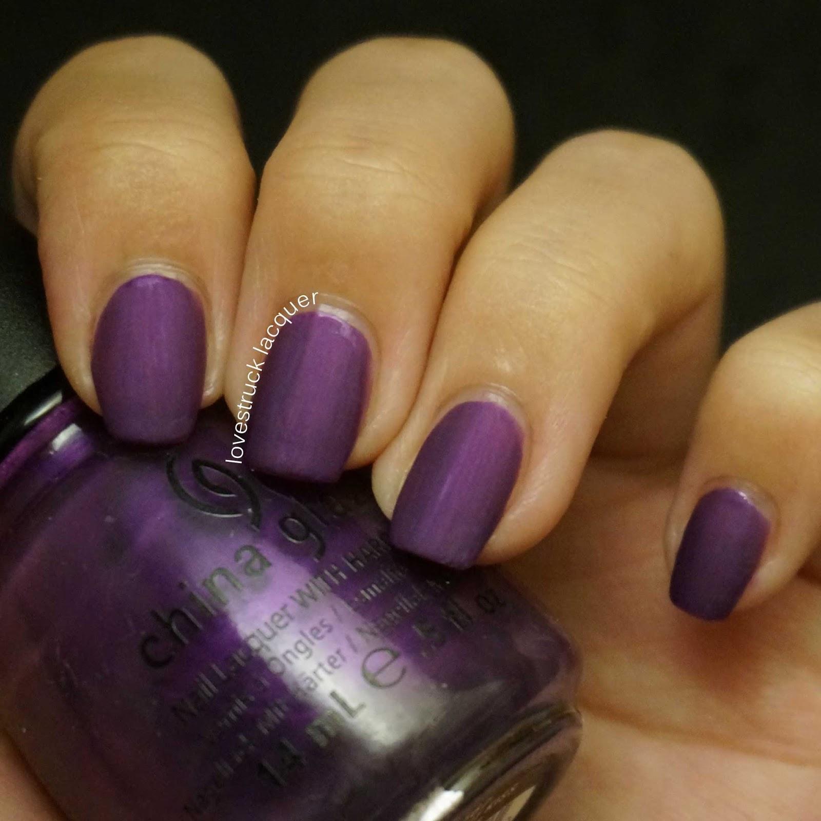 Matte Black Nail Polish China Glaze – Papillon Day Spa