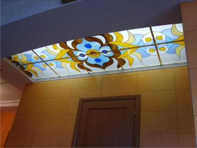 stained glass ceiling panels for hallway