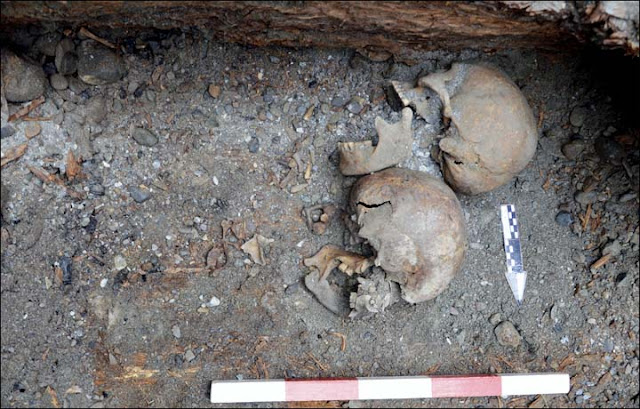 Scythian burial with two decapitated skeletons found in Altai Mountains