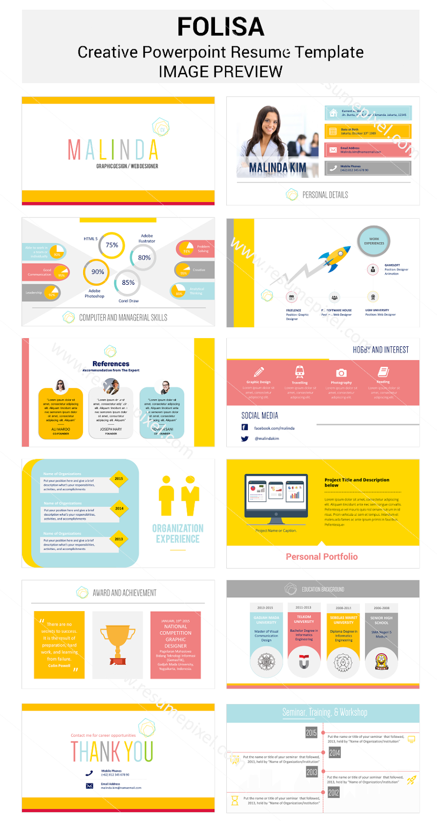 resume template powerpoint