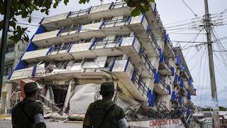 strong earthquake strikes near Mexico