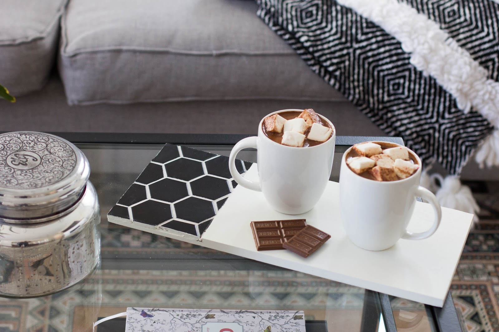 always rooney: Hexagon Tile Serving Tray DIY