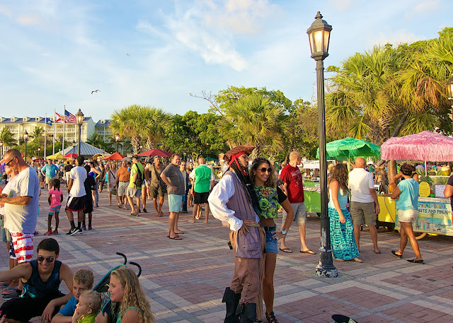 Sunset Celebration in Mallory Square Key West, FL
