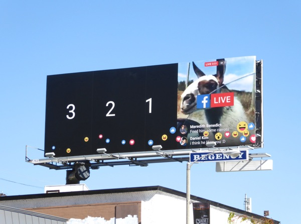 Facebook Live billboard