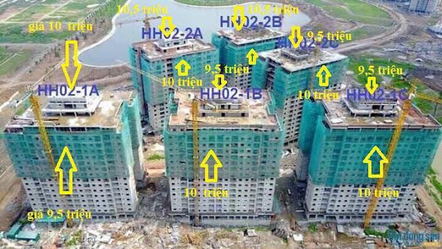 Thông báo nộp tiền theo tiến độ tòa chung cư B1.4 HH02 khu đô thị Thanh Hà Cienco 5
