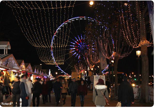 marché de Noël des Champs-Elysées de nuit