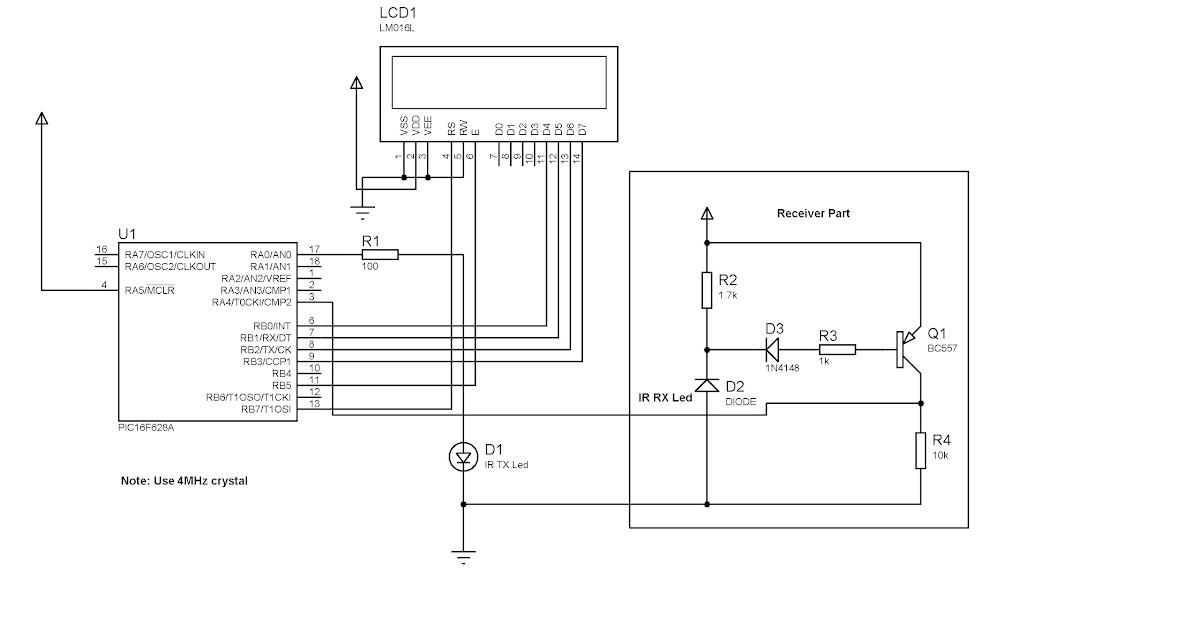pic16f628a pulse oximeter circuit electronics projects circuits