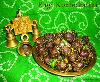 images for Ragi Ammini Kozhukattai / Ragi Kozhukattai / Savoury Ragi Dumplings / Steamed Finger Millet Dumplings