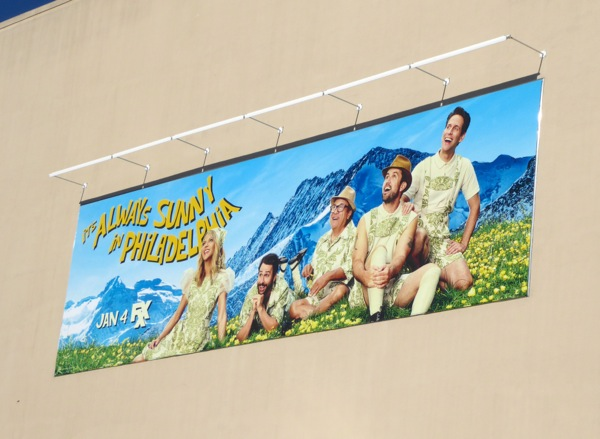 Always Sunny Philadelphia season 12 billboard