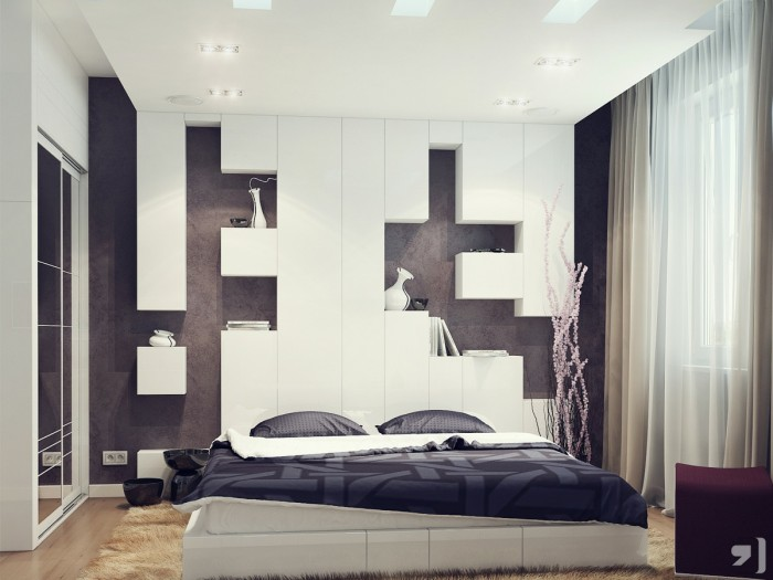Of interior walls too an ideal application is a bedroom feature wall where the warm material will create an impressive extension of your headboard