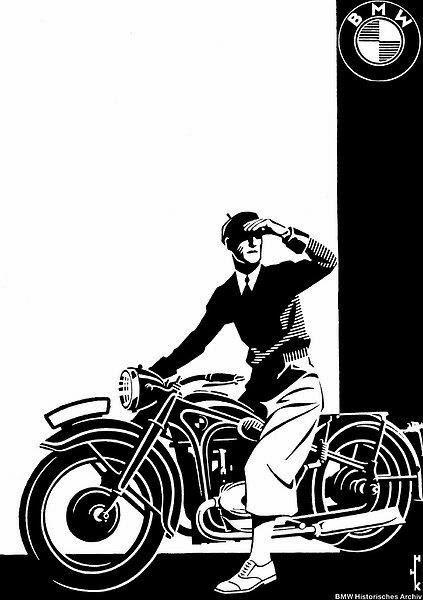 B M W Riders Garatge Carteles Antiguos Bmw