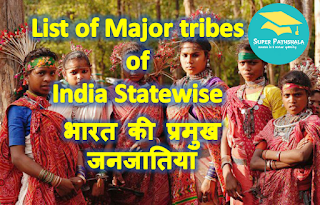 List of Major tribes of India Statewise | भारत की प्रमुख जनजातियां