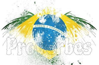 Drapeau du Brésil avec proverbes