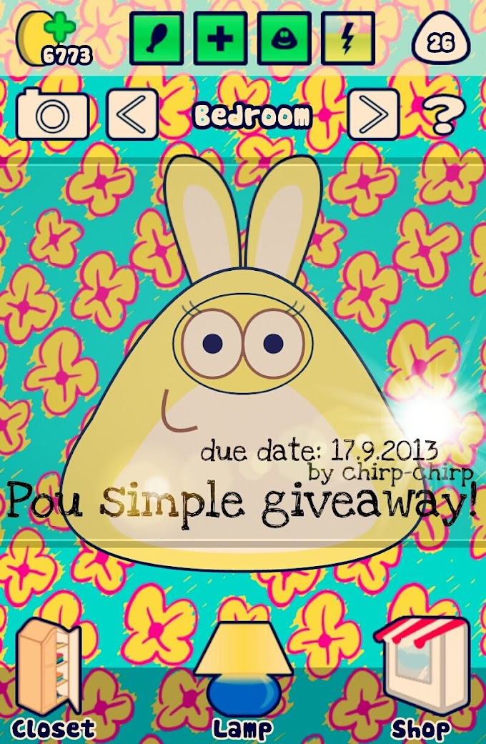 POU SIMPLE GIVEAWAY BY CHIRP-CHIRP