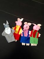 Kits marionnettes Les trois petits cochons