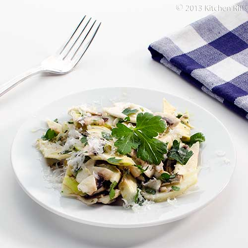 Shaved Artichoke and Mushroom Salad