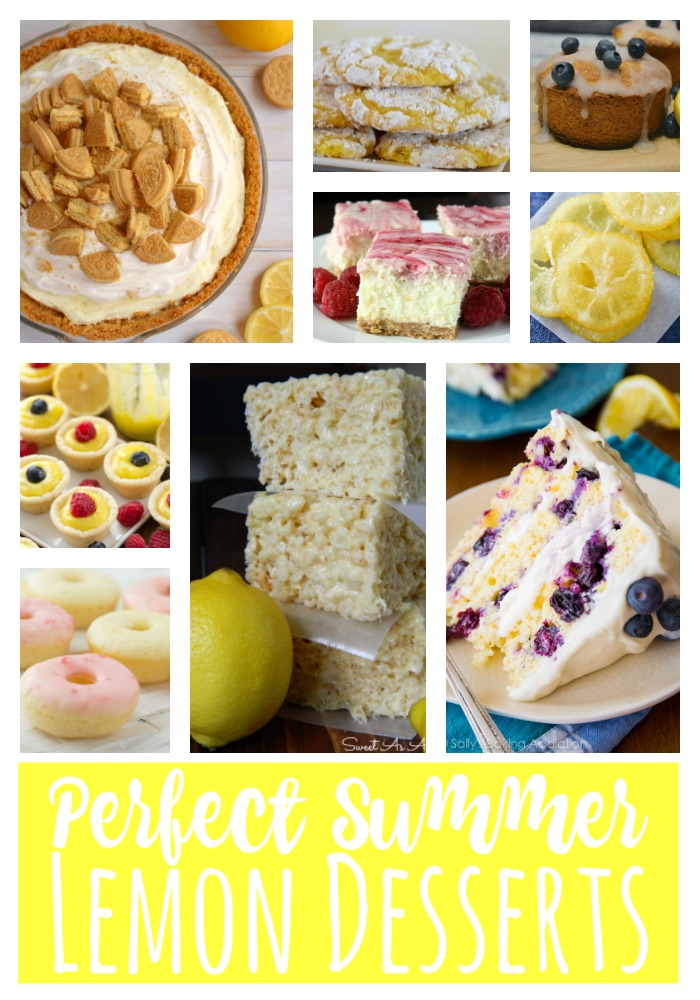 Lemon desserts, lemon recipes, desserts with lemons, lemon and blueberry desserts, summer desserts, lemon cheesecakes, lemon cake, candied lemons, lemon pies, lemon donuts, lemon cookies