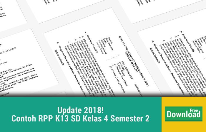 Contoh RPP K13 SD Kelas 4 Semester 2