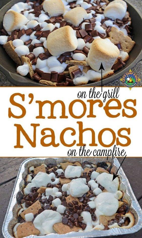 Campfire S'mores Nachos