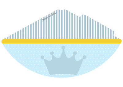 Sombrero para Imprimir Gratis de Corona Celeste.