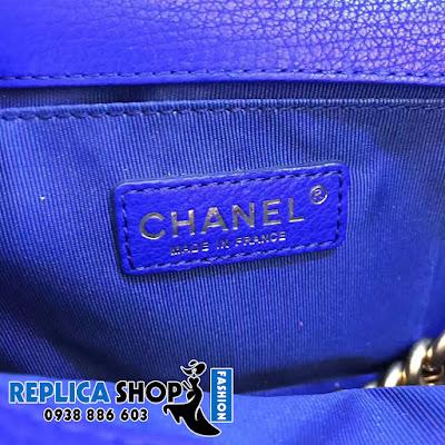 Túi xách Chanel Boy Màu Xanh Dương