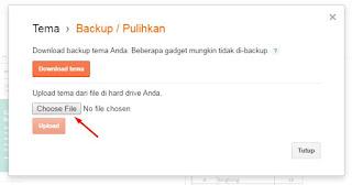cara mengganti tema blog di blogspot