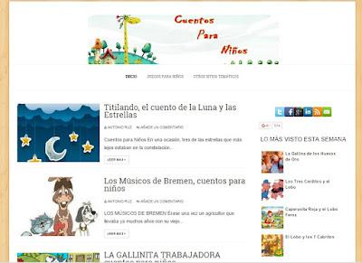Cuentos Para Niños, un blog de cuentos infantiles