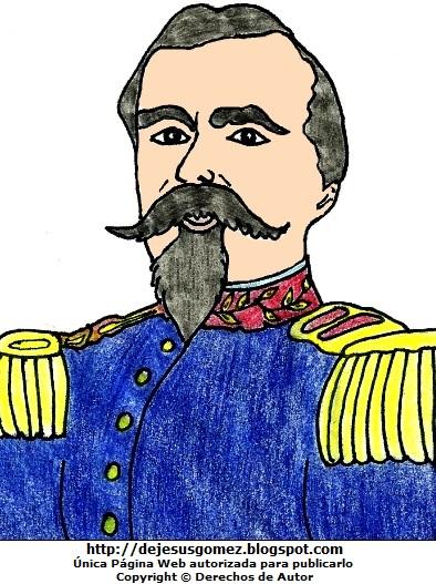 Dibujo de Francisco Bolognesi a colores, imagen de Francisco Bolognesi para niños. Dibujo de Francisco Bolognesi hecho por Jesus Gómez